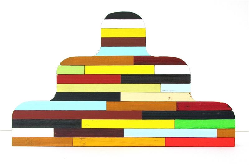 buddha, stripes