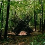 Buchenwald, sculpture in forest