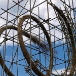 Sprung, sculpture, close-up